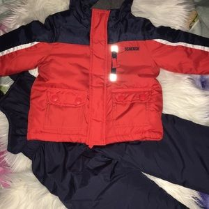 Oshkosh 2 piece outerwear. Snow suit set
